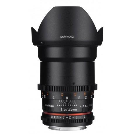 Objectif vidéo cinéma Samyang 35mm T1.5 AS UMC VDSLR II