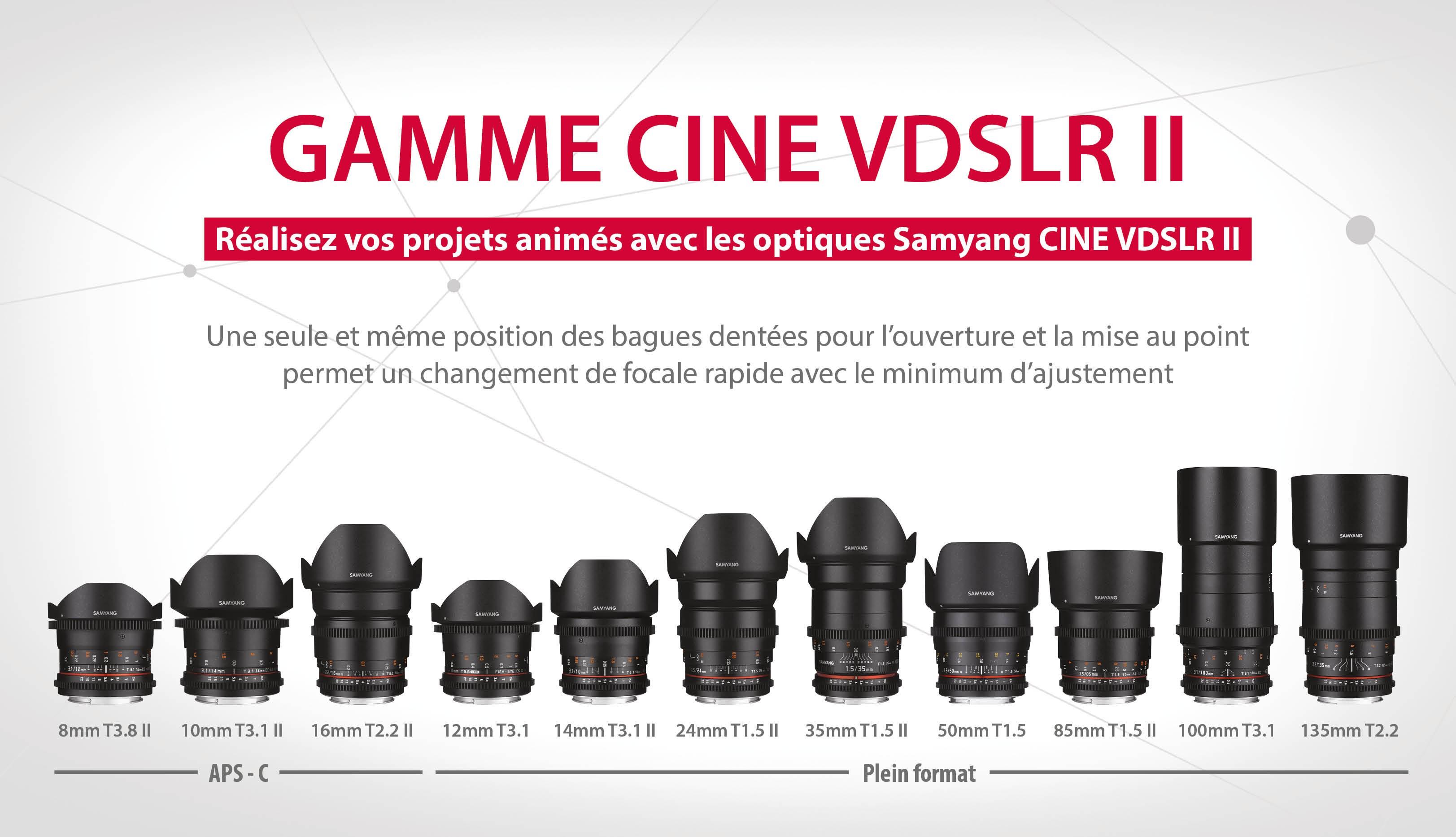 Gamme optique cine VDSLR II