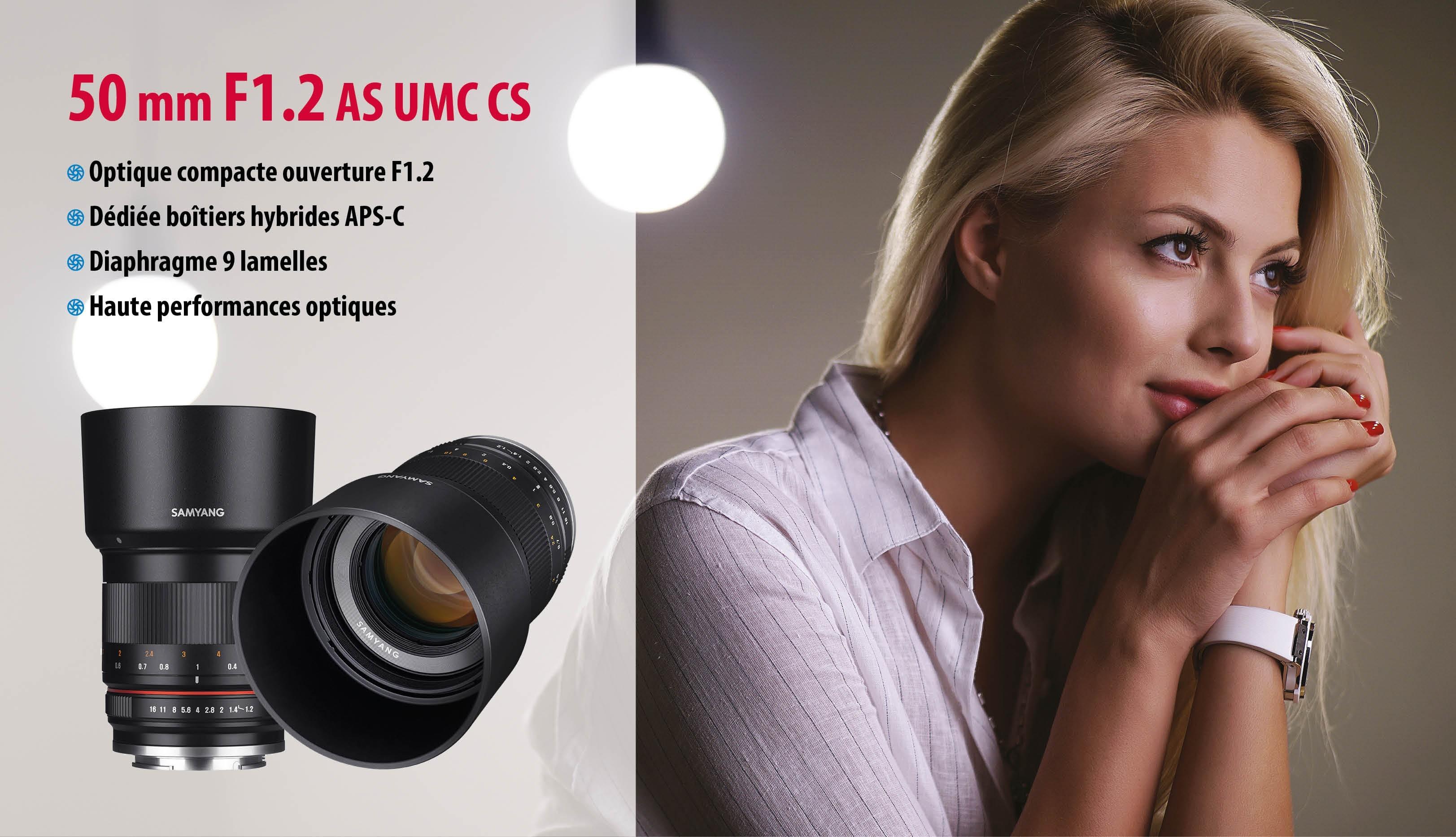Nouvelle optique 50mm F1.2 AS UMC CS