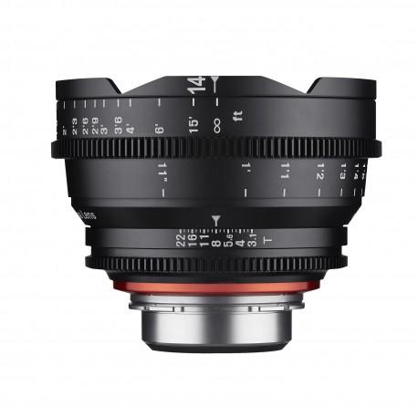 Xeen 14 mm T3.1 Sony FE / Echelle en mètres