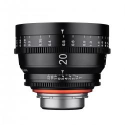 Optique cine prime Xeen 20 mm T1.9 au choix 5 montures 2 échelles. Pour des vidéos 4K 8K